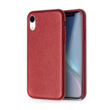 Kryt QIALINO pro Apple iPhone Xr - pravá kůže - červený