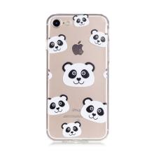 Kryt pro Apple iPhone 7 / 8 gumový - průhledný / pandy