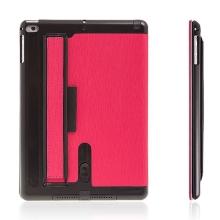 Pouzdro / kryt + integrovaný stojánek, zesilovač zvuku a pásek na ruku pro Apple iPad Air 2 - růžové