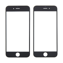 Náhradní přední sklo pro Apple iPhone 6 - černý rámeček - kvalita A