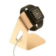 Hliníkový nabíjecí stojánek pro Apple Watch 38mm / 42mm Series 1 / 2 / 3 - zlatý