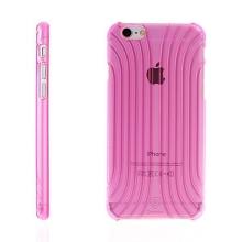 Plastový kryt BASEUS pro Apple iPhone 6 / 6S - výrazná struktura - průhledný růžově probarvený