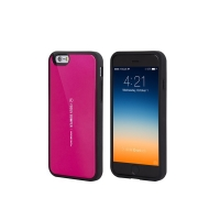 Kryt Mercury pro Apple iPhone 6 Plus / 6S Plus plasto-gumový - prostor pro umístění platební karty na vnitřní straně - růžový