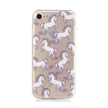 Kryt pro Apple iPhone 7 / 8 - gumový - průhledný - pohádkoví koně