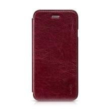 Elegantní flipové kožené pouzdro HOCO pro Apple iPhone 6 / 6S - vínové