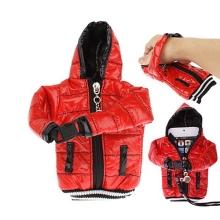 Ochranné pouzdro červená bunda s kapucí se šňůrkou na krk pro Apple iPhone / iPod a podobná zařízení