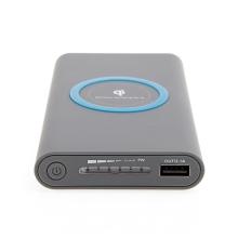 Externí baterie / power bank YOGEE - podpora bezdrátového nabíjení Qi - 8000 mAh - šedá