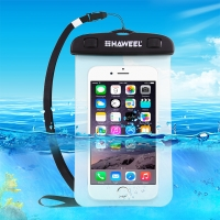 Pouzdro HAWEEL pro Apple iPhone - voděodolné - plast / guma - černé / průhledné