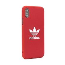 Kryt ADIDAS Originals pro Apple iPhone Xr - gumový - látkový - červený