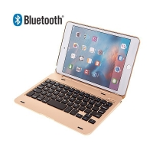 Mobilní klávesnice bluetooth 3.0 s krytem pro Apple iPad mini 4 - zlatá