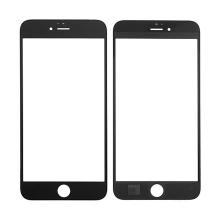 Náhradní přední sklo pro Apple iPhone 6S Plus - černý rámeček - kvalita A