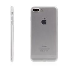 Kryt USAMS pro Apple iPhone 7 Plus / 8 Plus gumový / antiprachové záslepky - průhledný