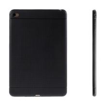 Gumový kryt / pouzdro pro Apple iPad mini 4 - tečkovaný - černý