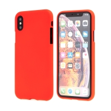Kryt MERCURY Soft feeling pro Apple iPhone X / Xs - gumový - červený