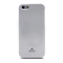 Gumový kryt Mercury pro Apple iPhone 5 / 5S / SE - jemně třpytivý - stříbrný