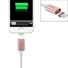 Kabel Lightning magnetický nabíjecí s LED indikátorem 1m - Rose Gold