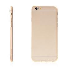 Kryt HOCO pro Apple iPhone 6 / 6S - antiprachová záslepka - tenký gumový průhledný - zlatě probarvený