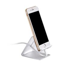 Stojánek HOCO pro Apple iPhone - hliníkový - stříbrný