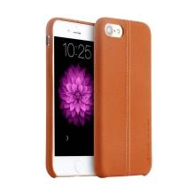 Kryt USAMS pro Apple iPhone 7 / 8 - umělá kůže - hnědý