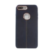 Kryt VORSON pro Apple iPhone 7 Plus / 8 Plus umělá kůže / výřez pro logo - modrý