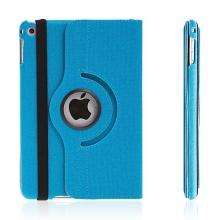 Pouzdro / kryt pro Apple iPad mini 4 - 360° otočný držák a prostor na doklady - modré