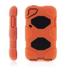 Ochranné plasto-silikonové pouzdro pro Apple iPod touch 4.gen. - oranžovo-černé
