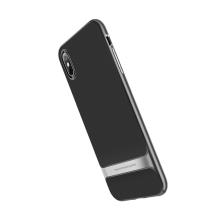 Kryt ROCK Royce pro Apple iPhone X / Xs - gumový / plastový - černý / šedý