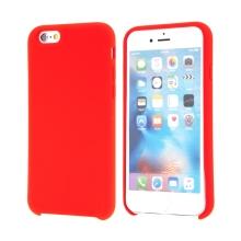 Kryt pro Apple iPhone 6 / 6S - gumový - příjemný na dotek - červený