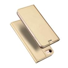 Pouzdro DUX DUCIS pro Apple iPhone 7 / 8 - umělá kůže - zlaté