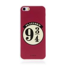 Kryt Harry Potter pro Apple iPhone 5 / 5S / SE - gumový - nástupiště 9 a 3/4 - červený