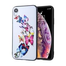 Kryt pro Apple iPhone Xr - plast / guma - motýli