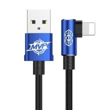 Synchronizační a nabíjecí kabel BASEUS MVP - lomená koncovka Lightning - modrý - 1m