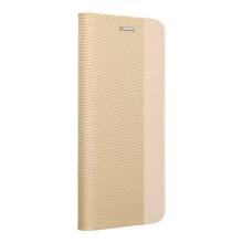 Pouzdro pro Apple iPhone 12 Pro Max - stojánek - umělá kůže / látkové - zlaté