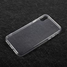 Kryt pro Apple iPhone X - gumový - průhledný