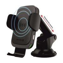 Držák do auta / bezdrátová nabíječka Qi SWISSTEN S-GRIP W2-HK3 - elektronické uchycení - černý
