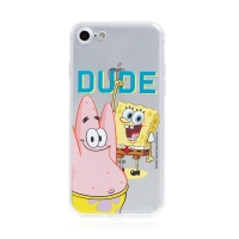 Kryt Sponge Bob pro Apple iPhone 7 / 8 / SE (2020) - gumový - Sponge Bob s Patrikem
