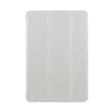 Pouzdro pro Apple iPad mini 4 - funkce chytrého uspání + stojánek - stříbrné