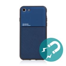 Kryt pro Apple iPhone 7 / 8 / SE (2020) - vestavěný plíšek pro držáky - plastový / gumový - modrý