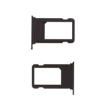 Rámeček / šuplík na Nano SIM pro Apple iPhone 7 Plus - černý (Black) - kvalita A+