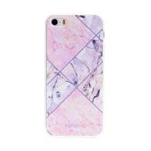 Kryt BABACO pro Apple iPhone 5 / 5S / SE - gumový - růžový mramor