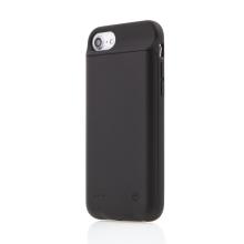 Externí baterie / kryt pro Apple iPhone 6 / 6S / 7 / 8 - 3000 mAh - matná - černá