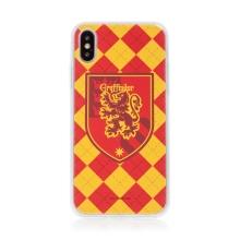 Kryt Harry Potter pro Apple iPhone Xs Max - gumový - emblém Nebelvíru