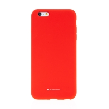 Kryt MERCURY pro Apple iPhone 6 Plus / 6S Plus - silikonový - příjemný na dotek - červený