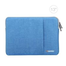 """Pouzdro se zipem HAWEEL pro Apple MacBook Air 13"""" / Pro 13"""" - postranní kapsa - modré"""