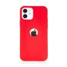 Kryt FORCELL Soft pro Apple iPhone 12 / 12 Pro - gumový - s výřezem pro logo - červený