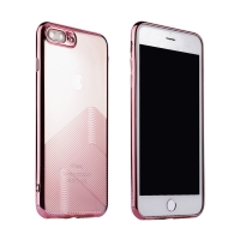 Kryt SULADA pro Apple iPhone 7 Plus / 8 Plus - gumový - průhledný / Rose Gold