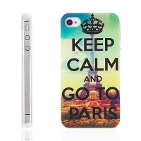 Plastový kryt pro Apple iPhone 4 / 4S - Keep Calm And Go To Paris - Eiffelova věž