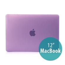 Tenký plastový obal / kryt pro Apple MacBook 12 Retina (rok 2015) - matný - fialový