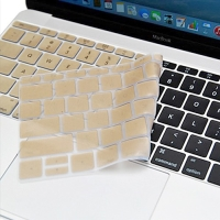 Kryt klávesnice ENKAY pro Apple MacBook 12 / Pro 13 (2016) bez Touch baru - silikonový - zlatý - US verze