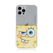 Kryt Sponge Bob pro Apple iPhone 12 / 12 Pro - gumový - potutelný Sponge Bob